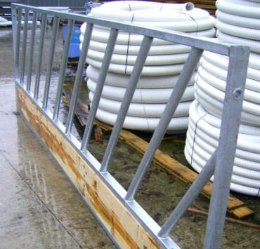 15' long Galvanized Feed Barriers