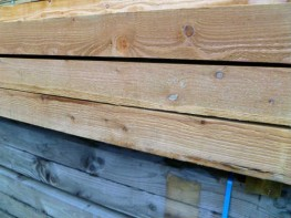 Timber Dungboard Support Posts
